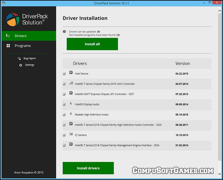 actualizar drivers con DriverPack Solution