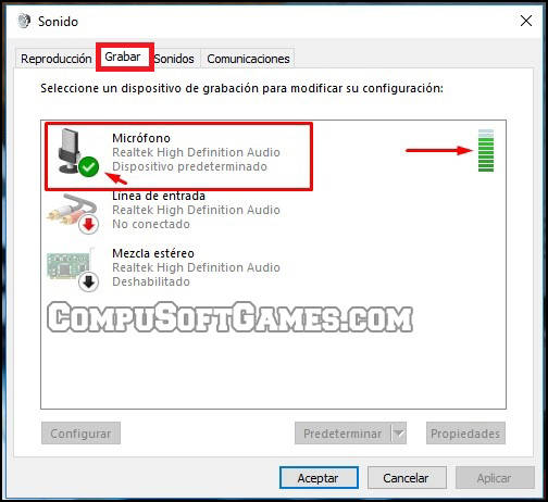 verificar microfono en windows