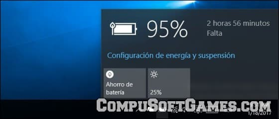 Configurar el brillo de windows